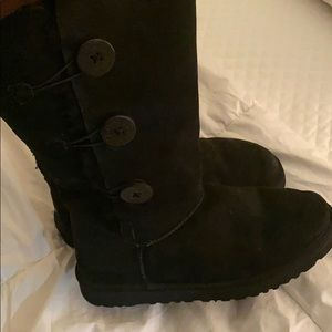UGG Bailey Button Triplet Boots - Black